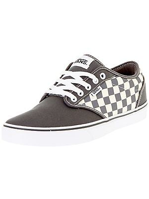 5937c83af91 Vans Atwood Checkers Gray Natural Canvas New In Box 1 of 5 ...