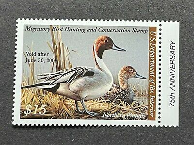 WTDstamps - #RW75 2008 - US Federal Duck Stamp - Mint OG NH