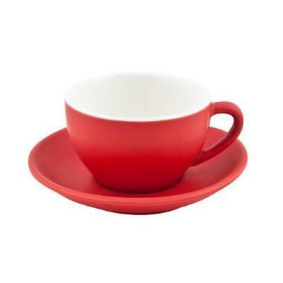 6x Large Cappuccino Cup & Saucer Red, 280mL, Bevande, Coffee / Cafe / Bistro NEW