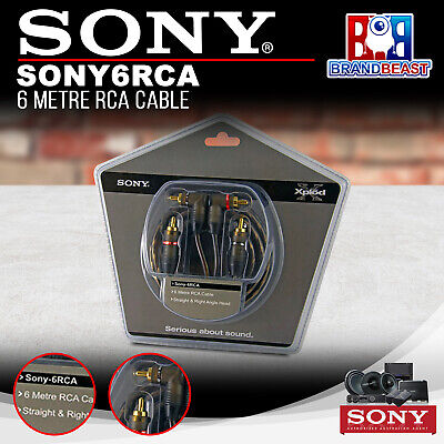 Sony6rca 6-metre Oxygen-free Rca Lead With Gold Plated Terminals