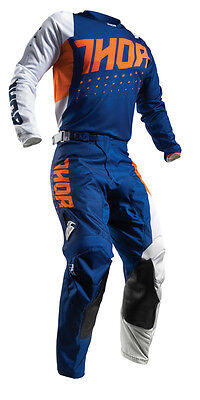 THOR MX Motocross Men's 2017 PULSE AKTIV Jersey/Pants Kit (Orange/Navy)