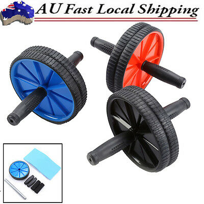 AB Abdominal Waist Workout Body Exercise Gym Fitness Roller Wheels Knee Pad Gift
