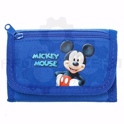Disney Mickey Mouse Tri-Fold Mini Wallet Coin Purse Bag - BLUE