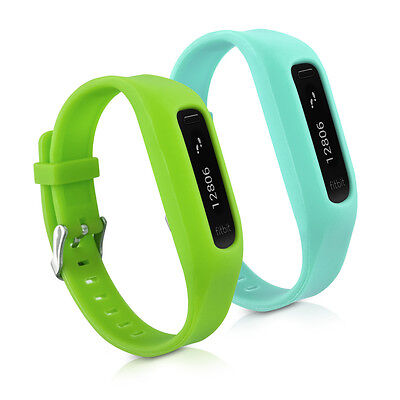 kwmobile 2X SILICONE SPARE BRACELET FOR FITBIT ONE GREEN FITNESS CLOCK CLASP