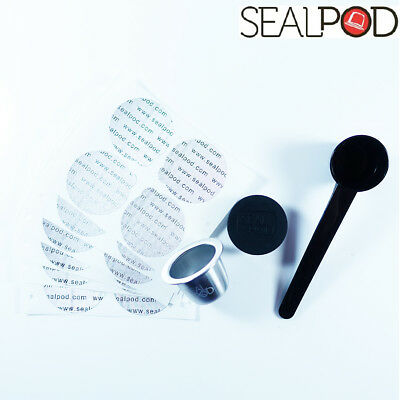 Sealpod Refillable / Reusable Nespresso Coffee Capsule Pod Refill Compatible 1pc