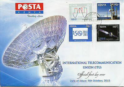 Kenya 2015 FDC ITU Int Telecommunication Union 150th Ann 4v Set Cover Stamps