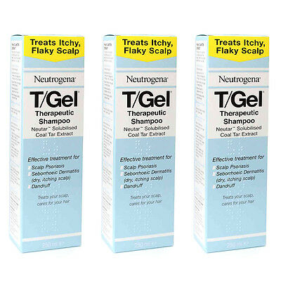 Neutrogena T/Gel Therapeutic Shampoo 250ml 3 Pack
