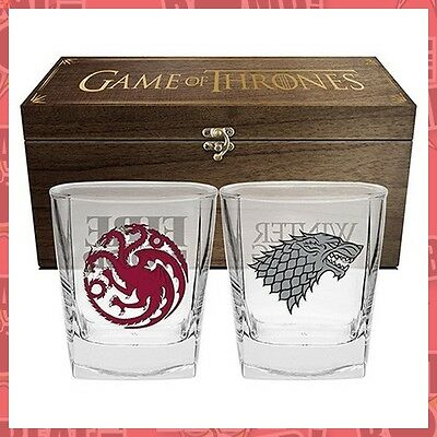 Game Of Thrones Glasses In Case Set Of 2  - BRAND NEW