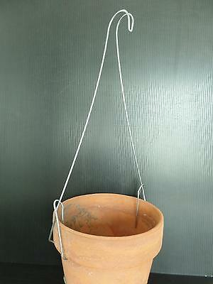 """Metal Wire Garden Plant Pot""""Hanger/Hook""""Balcony Fence Porch Railing Up To 12""""New"""