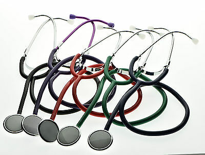Single Head Stethoscope Medical EMT Nurse Doctor Student Adult 5 Color CE