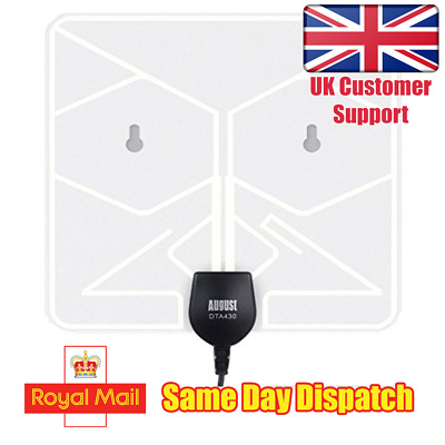 August DTA430 - Freeview HD Digital TV Aerial - Portable Indoor Antenna Passive