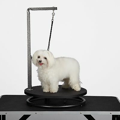 Master Equipment Small Pet Grooming Black Table Easy to Clean 18 Inches