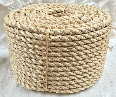 Rope - Synthetic Sisal, Sisal, Sisal For Decking, Garden & Boating, 28mm x 40mts