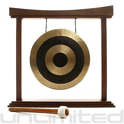 """12"""" Subatomic Gong on the Eternal Present Gong Stand with Mallet"""