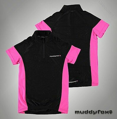 Junior Girls Muddyfox Lightweight Top Breathable Cycle Jersey T-Shirt Size 7-13
