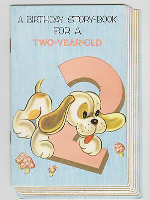 Vintage Greeting Card For A Two Year Old... Multi-Page, Bright & Breezy=Gorgeou