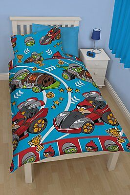 Angry Birds Go Fast Single Rotary Reversible Duvet Cover Kids Bedding Set