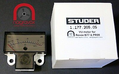 Revox B77 and PR99 VU meters - new original