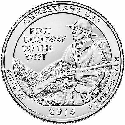 2016 Cumberland Gap National Historical Park Quarters  (P&D) 2 coin set* IN HAND