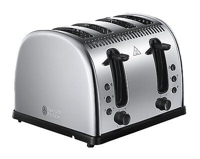 Russell Hobbs 21300 Legacy 4 Slice Wide Slot Toaster - Polished Stainless Steel