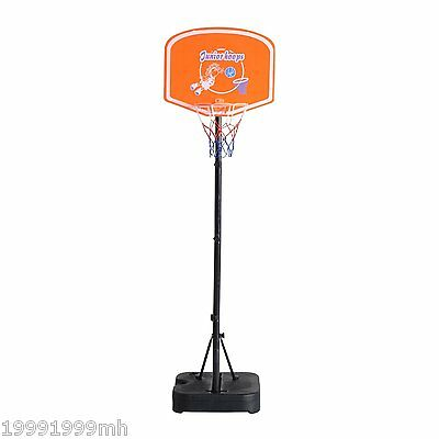 """Soozier 62''-74""""H Adjustable Junior Youth Basketball Hoop System Stand Outdoor"""