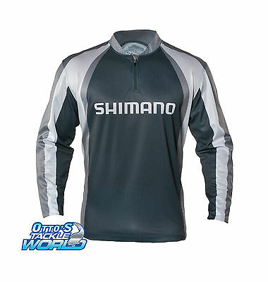 Shimano Technical Sublimated Fishing Shirt (Grey) BRAND NEW @ Ottos Tackle World