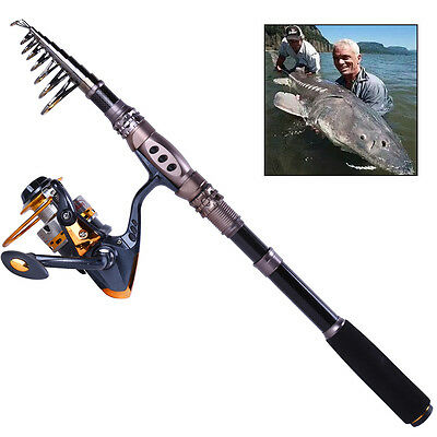 Portable Telescopic Fishing Rod and Reel Combos Kits Saltwater Freshwater Tackle