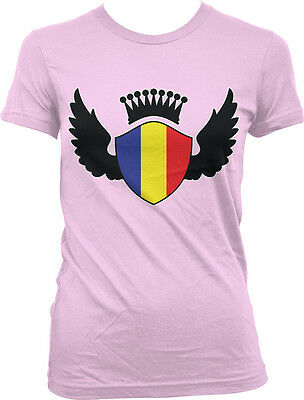 Romanian Shield Crest Wings Romania Flag Colors Heritage ROU Hoodie Sweatshirt