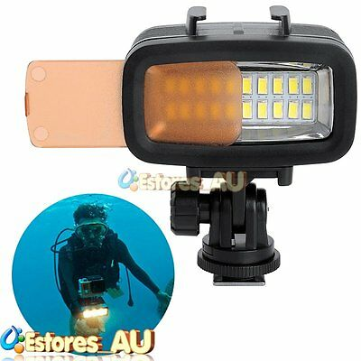 【AU】SL-100 40M Waterproof Underwater LED Video Strobe Light For Sports Camera