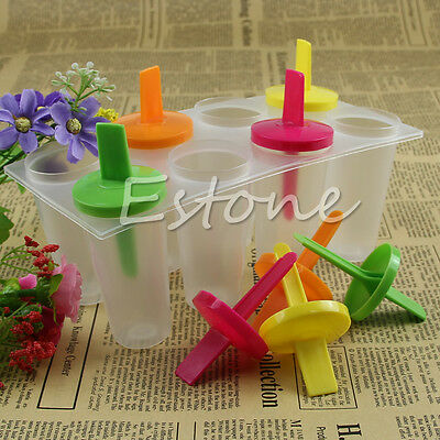 New 8 Cell Pop Popsicle Mold Ice Cream Maker Tray Pan Kitchen Frozen Lolly Mould
