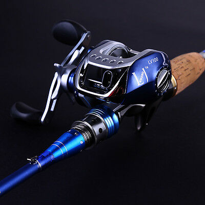 Baitcasting Bass Fishing Rod with Reel Combos Set Saltwater Fishing Tackles EMS