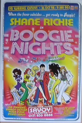 """40x60"""" HUGE SUBWAY POSTER~Boogie Nights The Musical 1998 Shane Richie Play Tour~"""