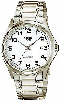 Casio Men's Analogue Quartz Watch with White Dial, Stainless-Steel