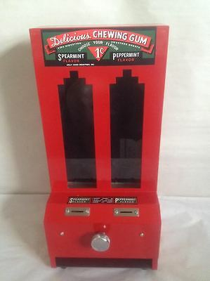 JOLLY GOOD ONE CENT CHEWING GUM VENDING MACHINE, w/ KEY VERY GOOD CONDITION