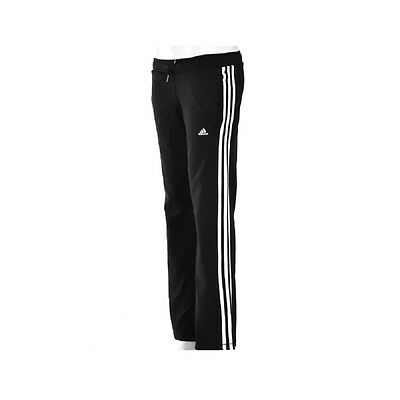 Girls Adidas Cotton Joggers Jazz,Gym,Pe Pants Tracksuit Bottoms  Black 3 Stripe