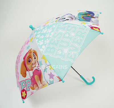 Nickelodeon Paw Patrol Umbrella Girls Kids Childrens Pink Purple Skye Everest