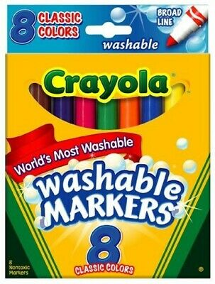 Crayola Washable Markers Broad Line Assorted Bold Colors Pack of 72 (58-7832)