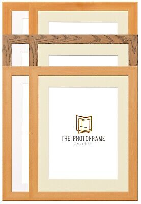Dark Oak, Pine & Beech Photo Frame With Mount Multi Aperture Mounts Poster Frame