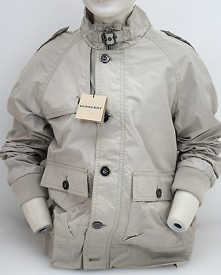 Burberry Junior Boy Parka Jacket Beige Nylon And Cotton Code B26293