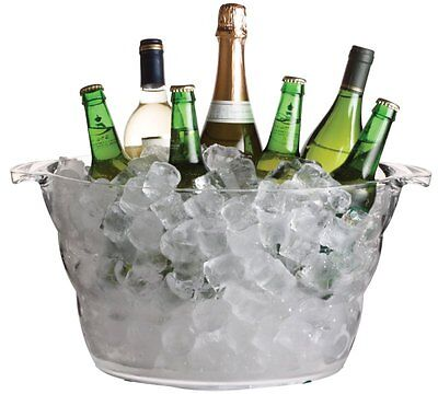 BarCraft Large Oval Drinks Bucket, Cooler Party Tub Pail, Wine, Beer, Water