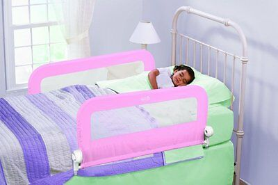 Summer Infant Grow Double Bedrail (Pink), Safety Kids Bed Guard Rail - FREE P&P