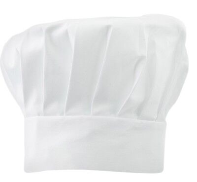 Kids Polycotton Adjustable Velcro Tall Chefs Hat School Baking Cooking Accessory