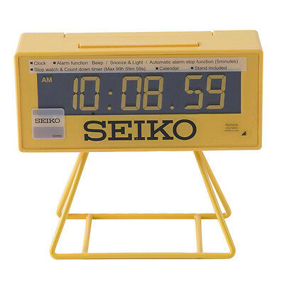 Seiko Countdown Style Sports Timing Clock - Yellow New Uk