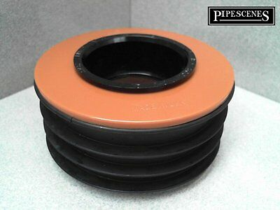 "Waste to Soil Adapter Cap Pipe Reducer 110mm 4"" to 50mm 55mm 2"" Underground"