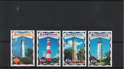 Barbados 2013 MNH Lighthouses 4v Set Harrison Point Lighthouse Buildings Stamps