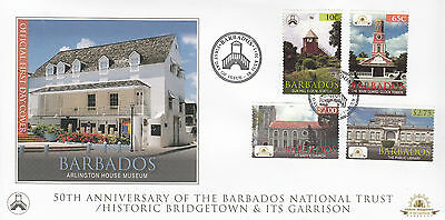 Barbados 2012 FDC National Trust Historic Bridgetown Garrison 4v Cover Stamps