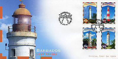Barbados 2013 FDC Lighthouses 4v Set Cover Harrison Point Lighthouse Stamps