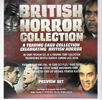 British Horror Collection Factory Sealed Preview Set