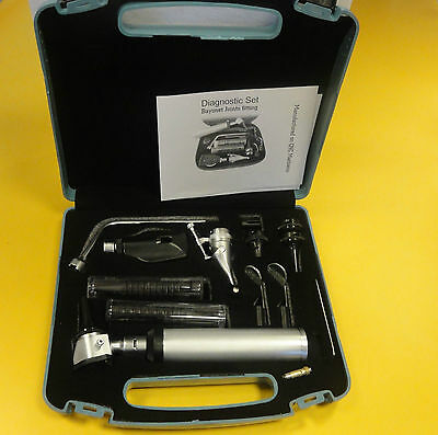 ENT Opthalmoscope Otoscope Nasal Larynx Diagnostic Set Kit CE New