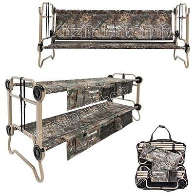 Camouflage Portable Folding Camping Military Bed Cot 2 Tier Outdoor Sleeping NEW